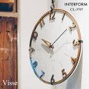掛け時計 INTERFORM インターフォルム 壁掛け時計 CL-3707 Visseフィッセ 電波時計 [時計 壁掛け ウォールクロック おしゃれ デザイン 子供 ギフト 引っ越し 新生活 クリスマス 結婚 祝い 送料無料] 10倍 プレゼント