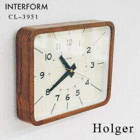 掛け時計 INTERFORM インターフォルム 置き掛け兼用 CL-3951 Holger ホルガー [置き時計 ガラス時計 壁掛け ウォールクロック おしゃれ デザイン 子供 ギフト 引っ越し 新生活 敬老の日 結婚 祝い 送料無料] 10倍 プレゼント