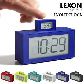 LEXON レクソン 置き時計 LR139 INOUT CLOCK 目覚まし 置時計 送料無料 10倍 新生活 ハロウィン 引っ越し プレゼント