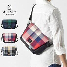 milest ミレスト Hutteシリーズ MLS768 メッセンジャーバッグ Sサイズ 2020 LIMITED チェック柄 ショルダーバッグ バック かばん カバン 鞄 メンズ レディース 5倍 新生活 敬老の日 引っ越し プレゼント