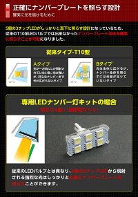2色選択可!高輝度3チップLEDバルブタイプマツダCX-5【KEE♯】専用ナンバー灯2個1セット【メール便発送-時間指定不可】