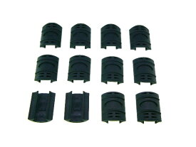 20mmレイルカバーレールパネルハンドガード保護12枚新品黒