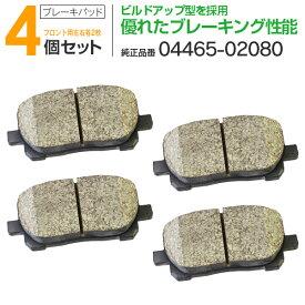ブレーキパッド 本体×4(左右各2枚セット) MD2217M (04465-02080) トヨタ ノア ヴォクシー AZR60G AZR65G【送料無料】 AZ1
