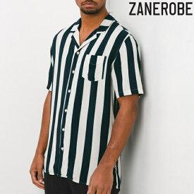 【ポッキリSALE】【早い者勝ち】【在庫限り】ZANEROBE/ゼインローブ/ストライプオープンカラーシャツ/開襟/開襟シャツ/半袖/ZR303/半袖/メンズ/M/L/XLサイズ/あす楽/