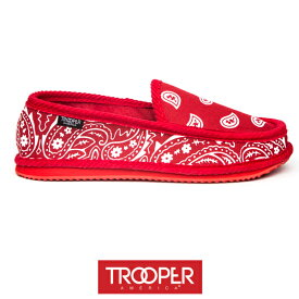TROOPER AMERICA/トゥルーパーアメリカ/ペイズリー スリッポン/RED/レッド/赤/スニーカー/