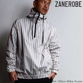 SALE/ZANEROBE/ゼインローブ/ストライプアノラック/パーカー/OFFWHITE/オフホワイト/ピンストライプ/ZR508/メンズ/2019春夏新作/プルオーバーパーカー/ナイロン/ M/L/XLサイズ/あす楽/送料無料/