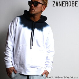 【ポッキリSALE】【SALE】ZANEROBE/ゼインローブ/グラデーションフーディ/パーカー/WHITE/ホワイト/グラデーション/ZR405/メンズ/2019春夏新作/裏毛素材/プルオーバーパーカー/ M/L/XLサイズ/あす楽/送料無料/