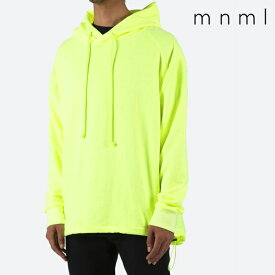 mnml/ミニマル/LIGHTWEIGHT FLY HOODIE/ネオンパーカー/ネオンイエロー/蛍光色/黄色/VOLT/ロングパーカー/ロング丈/丈長/プルオーバー/フーディ/ストリート/送料無料/新作/
