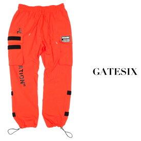 ラスイチSALE/GATESIX/ゲートシックス/アジャストカーゴパンツ/ORANGE/オレンジ/ボトムス/ウエストゴム/ナイロンパンツ/ストリート/メンズ/送料無料/新作/