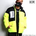 DOPE ドープ 中綿 ダウンジャケット ジャンパー ジャケット アウター 長袖 メンズ 蛍光イエロー 大きいサイズ b系 ヒップホップ ストリート系 ファッション ブランド ビッグシルエット メンズ 大きい サイズ LAセレブ スポーティ ストリート メンズ 送料無料 新作