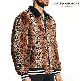 LEFTED ANCHORS Luciana Varsity Jacket Cheetah ボア ジャケット アウター リフテッドアンカーズ シャギー レオパード ヒョウ柄 ブルゾン ジャケット メンズ 大きいサイズ 海外ブランド メンズ ストリート LA ヒップホップ B系 ストリート系 チーター