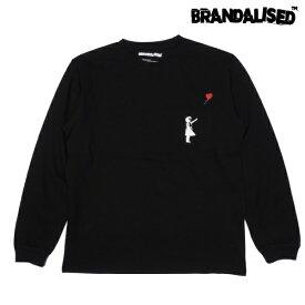 再入荷 BRANDALISED ブランダライズド Banksy バンクシー グラフィック アート ロングTシャツ ロンT Tシャツ 長袖 BLACK 黒 長袖 裏毛 M/L/XL ストリート アウトドア メンズ 大きいサイズ 2021 新作 送料無料 あす楽