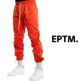 EPTM HYPER TRACK PANTS BLACK エピトミ ハイパートラックパンツ 橙 オレンジ ナイロン ウエストゴム ストリート スポーティ カジュアル メンズ 送料無料 新作