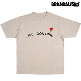BRANDALISED ブランダライズド Banksy バンクシー グラフィック アート Tシャツ 半袖 BEIGE ベージュ M/L/XL ストリート アウトドア メンズ 大きいサイズ 2021 新作 送料無料 あす楽