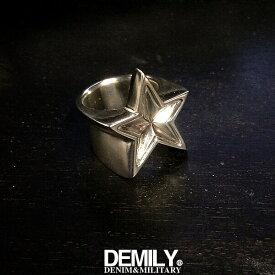DEMILY デミリー【送料無料】【star series】STAR RING:スターリング【SILVERシルバー】【指輪】【シルバーアクセサリー】【メンズ/レディース】【あす楽】【YH】