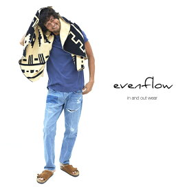 EVENFLOW(イーブンフロウ) ラウンドポンチョタオル【ブラック×キャメル】【今治タオル】【大判ラウンドタオル】【ビーチタオル】【ラグ】【リバーシブル】【メンズ/レディース】【あす楽】