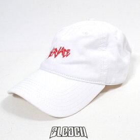 【ポッキリSALE】【ラスイチSALE】BLEACH アジャスタブルキャップ【#05-WHITE:ホワイト】【SLAYHER】【コットンキャップ】【ロゴ刺繍デザイン】【ブリーチ】【帽子/CAP】【メンズ/レディース】【あす楽】
