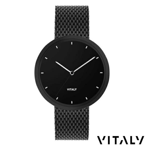 【SALE】VITALY(ヴァイタリー) [SOH-01]SOHOメッシュバンドウォッチ【MATTE BLACK:マットブラック】【40mm】【文字盤/ブラックダイヤル】【腕時計】【バイタリー】【メンズ/レディース】【送料無料】【あす楽】