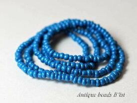 【2012】ジャワターコイズブルー小粒ビーズ一連【とんぼ玉】【アンティークビーズ】【ビーズ】【パーツ】【ガラスビーズ】【ハンドメイド】【beads】