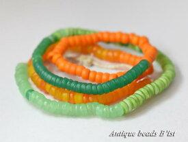 【1704】ANTQボヘミアカンカンバ中粒玉MIX一連1【とんぼ玉】【アンティークビーズ】【ビーズ】【パーツ】【チェコ】【antiquebeads】【beads】【ボヘミア】