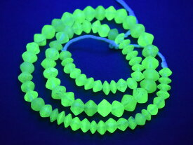 【2005】ANTIQUEボヘミアウランガラス黄色算盤型ビーズ一連2【とんぼ玉】【蜻蛉玉】【トンボ玉】【ボヘミアビーズ】【チェコ】【ウランガラス】【送料無料】【antiquebeads】【beads】【アンティークビーズ】