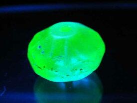 【1809】ANTQボヘミアウランガラス緑色算盤型ビーズ【とんぼ玉】【アンティークビーズ】【ビーズ】【パーツ】【チェコビーズ】【ウランガラス】【antiquebeads】【beads】