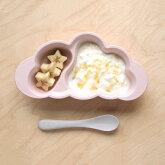 ディモワディモアフィセルmamamanma(マママンマ)プレートセットベビープレート赤ちゃん食器セットフォークスプーン離乳食くも型抗菌耐熱