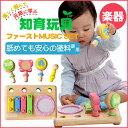 音が鳴る木製玩具(木のおもちゃ)ファーストミュージックセット【楽器/木琴/太鼓】