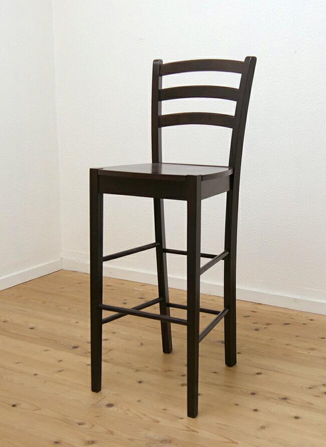 木製カウンターチェア 飲座面高76cm 409 カプチーノ(こげ茶)色 業務用で人気 座面高70cm台 木製ハイカウンターチェア 木製カウンター椅子 木製スタンド椅子 濃い茶色 こげ茶色