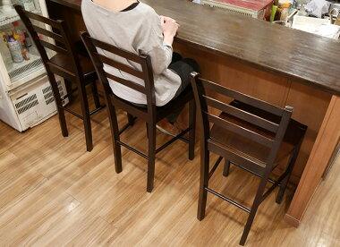木製カウンターチェアCCK408カプチーノ(こげ茶色)座面高60cmカウンターチェア業務用木製ハイカウンタースタンド椅子こげ茶色、ダークブラウン色