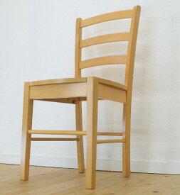 座面高45cm 飲食店用で人気 木製ダイニングチェア 軽くてシンプルな椅子 383 ナチュラル(ビーチ色) 軽い食堂椅子 木製学習いす 薄い木目茶色 木目カフェチェアー