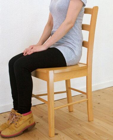 座面高45cmの業務用木製ダイニングチェア