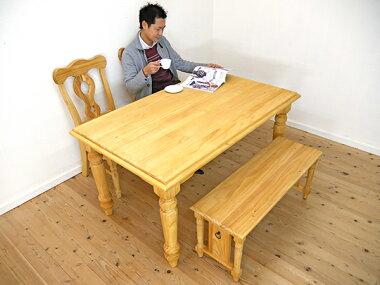 人気のパイン材ダイニングテーブル