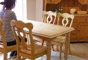 【カントリーパインダイニングテーブルDT-BA02bj/チェア4脚セット】パインダイニングテーブル140cm幅、テーブル5点セット