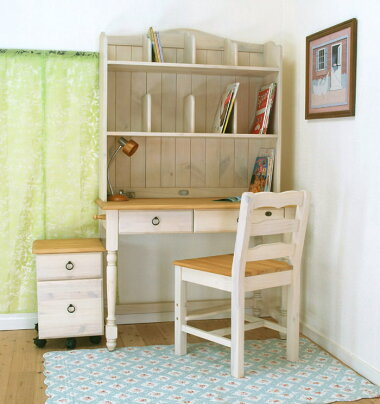 お子様と環境に優しいオイル仕上げ白い学習机