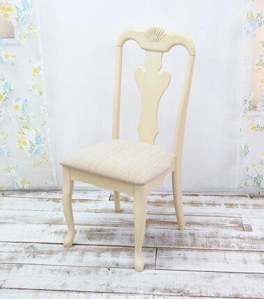 猫脚デスクチェア姫系クラシック調優美なクッション座面椅子