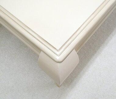 猫脚ダイニングテーブルセットアンティーク調クラッシックテーブル180cm幅チェア6脚とベンチ2台の9点セットアイボリー色欧風テーブルとチェアとベンチセット