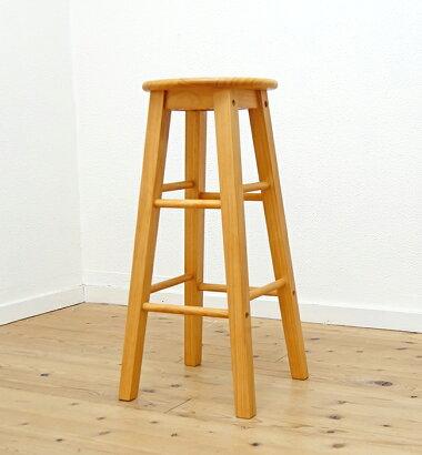 お手入れしやすいラッカー塗装木製スツール