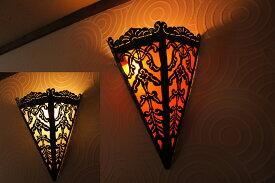 【送料無料!】LED電球、コード付!アイアン壁掛けランプ!NL-054 / ブラケット ランプ 壁掛ライト インテリア 照明 間接照明 モダン 照明器具 アジアンランプ アジアンインテリア アジアン家具