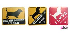 スーパーセール 【メール便送料無料】オリジナルステッカー・バセットハウンド・Shetland Sheepdog IN CAR/I LOVE Shetland Sheepdog2011T-SK5【犬用品・ペットグッズ・DOG・犬】【smtb-MS】