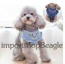 新作【メール便送料無料】花柄刺繍が可愛い デニムハーネス・リードセット 犬用品・ペットグッズ・DOG ハーネス 小型…