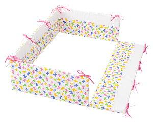 レギュラーサイズ 四方タイプ ベッドガード ハンナフラ ちょうちょ ごっつん防止 日本製 ヘッドガード ベビーベッド用 ベッドガードパット ヘッドガードパット ベビー 赤ちゃん 新生児 フ