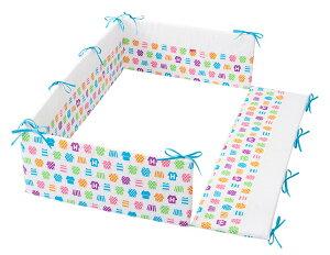 レギュラーサイズ 四方タイプ ベッドガード ハンナフラ アンダーウェア ごっつん防止 日本製 ヘッドガード ベビーベッド用 ベッドガードパット ヘッドガードパット ベビー 赤ちゃん 新生児