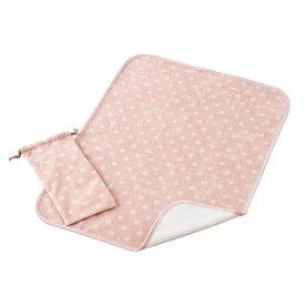 おむつ替えシート フルーツドロップ ピンク 日本製 送料無料 フジキ おむつ替えマット オムツ替えシート オムツ替えマット おむつかえシート おむつかえマット ベビー 赤ちゃん おむつ用品 ポーチ付き 水玉柄