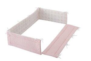 レギュラーサイズ 四方タイプ ベッドガード ベビーポルカ ピンク ごっつん防止 日本製 ヘッドガード ベビーベッド用 ベッドガードパット ヘッドガードパット ベビー 赤ちゃん 新生児 フジ