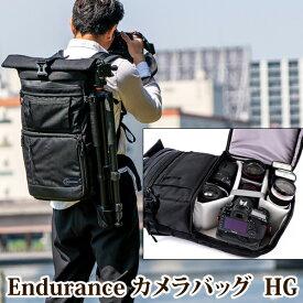 Endurance(エンデュランス)カメラバッグ HG 2気室構造 ロールトップ リュックタイプ 一眼レフ用 カメラバック カメラリュック リュック バックパック カメラポーチ カメラケース 一眼レフ