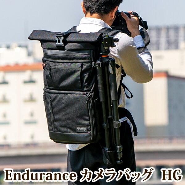 Endurance カメラバッグ HG 2気室構造 ロールトップ リュックタイプ 一眼レフ用