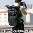 Endurance(エンデュランス)カメラバッグ HG 2気室構造 ロールトップ リュックタイプ 一眼レフ用 カメラバック カメ…