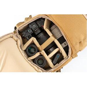 8号帆布のEndurance(エンデュランス)カメラバッグExt(エクステンド)コンパクト&多機能リュックタイプサンドベージュ一眼レフカメラバッグ一眼レフ女子カメラリュックカメラバックミラーレス一眼キャンバス地