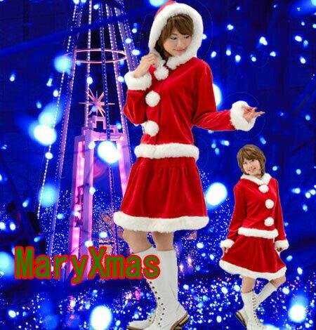 サンタクロース 衣装/サンタ衣装/大きいサイズ サンタ コスプレ/大きいサイズ XL XXL サンタクロース/クリスマス 衣装/フード付き 上下セット/ A9